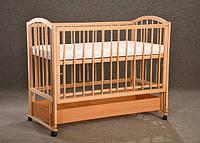 """Кроватка детская """"Малютка с продольным маятником + опускающийся бок"""", фото 1"""