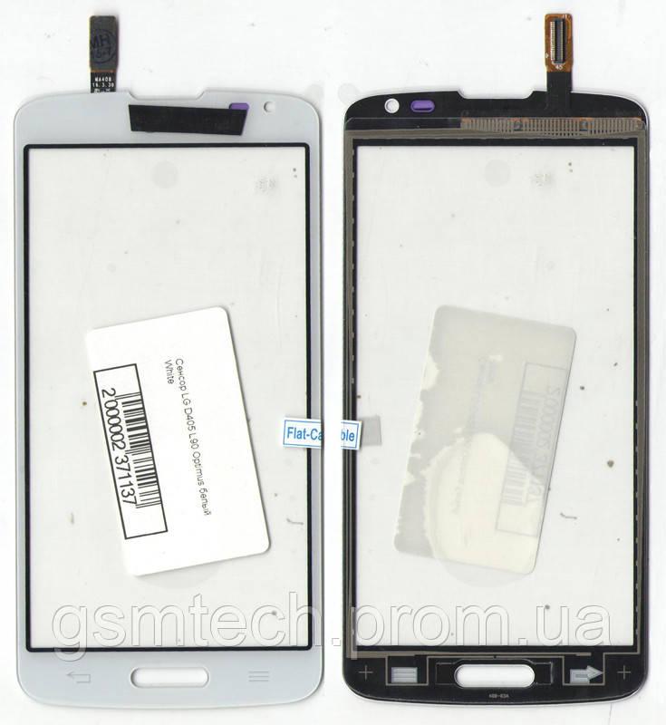 Сенсор (Тачскрин) для LG D405 Optimus L90 белого цвета