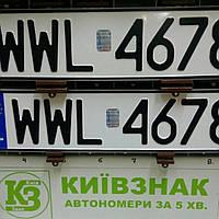Автономера Польши - оригинальный шрифт