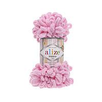 Турецкая пряжа для вязания Alize Puffy (пуффи) пряжа вяжется руками 185 ярко-розовый