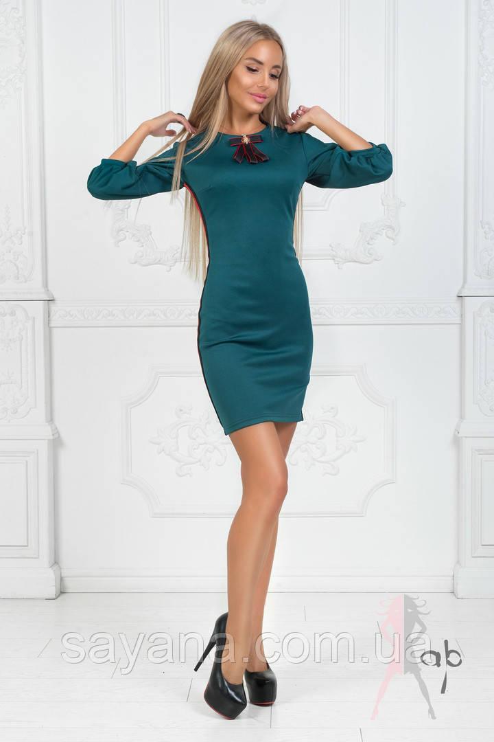 Женское силуэтное платье с лампасами в расцветках. ПН-4-0818
