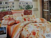 Сатиновое постельное белье евро ELWAY 4060