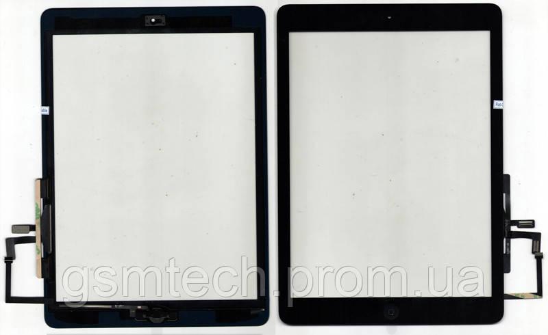 Тачскрин (сенсор) для Apple iPad Air с кнопкой Home черного цвета