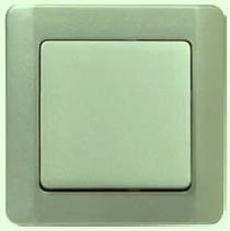 ВС10-1-0-ГФ Выключатель одноклавишный (фисташковый металлик)
