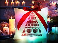 Новогодняя светящаяся подушка Ёлочка