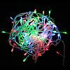 Гирлянда светодиодная LED разноцветная, прозрачный провод, 300 лампочек