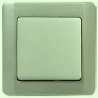 ВСк10-1-0-ГФ Выключатель 1кл. кнопочный (фисташковый металлик)