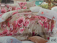 Сатиновое постельное белье евро ELWAY 4145