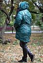 Женская зимняя куртка с мехом под овчину в больших размерах 10ba186, фото 2