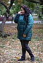 Женская зимняя куртка с мехом под овчину в больших размерах 10ba186, фото 10