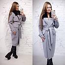 Зимнее удлиненное пальто классического стиля с мехом на воротнике 58pt28, фото 2