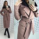 Зимнее удлиненное пальто классического стиля с мехом на воротнике 58pt28, фото 5