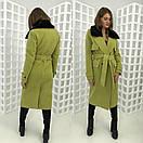 Зимнее удлиненное пальто классического стиля с мехом на воротнике 58pt28, фото 6