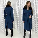 Зимнее удлиненное пальто классического стиля с мехом на воротнике 58pt28, фото 7