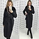 Зимнее удлиненное пальто классического стиля с мехом на воротнике 58pt28, фото 9