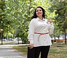 Женская кофта-баска в больших размерах под пояс 10ba191, фото 3