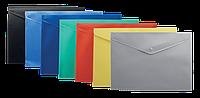 Папка конверт А4 на кнопке,ассорти (BM.3925)