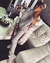Теплый шерстяной женский вязаный костюм с высоким горлом 18ks141, фото 4