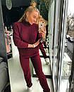 Теплый шерстяной женский вязаный костюм с высоким горлом 18ks141, фото 5