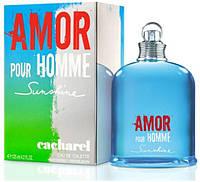 Мужская туалетная вода Cacharel Amor Pour Homme Sunshine (освежающий цитрусово-пряный аромат)