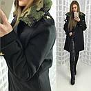 Женское зимнее пальто в военном стиле 58pt36, фото 2