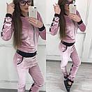 Женский спортивный костюм из бархата на молнии 58so157, фото 4