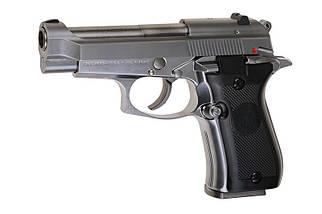 Страйкбольный пистолет M84 Mini - silver [WE] (для страйкбола), фото 2