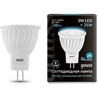 Светодиодная лампа GAUSS MR-11 3 Вт 4100K GU4 150-265 Вольт