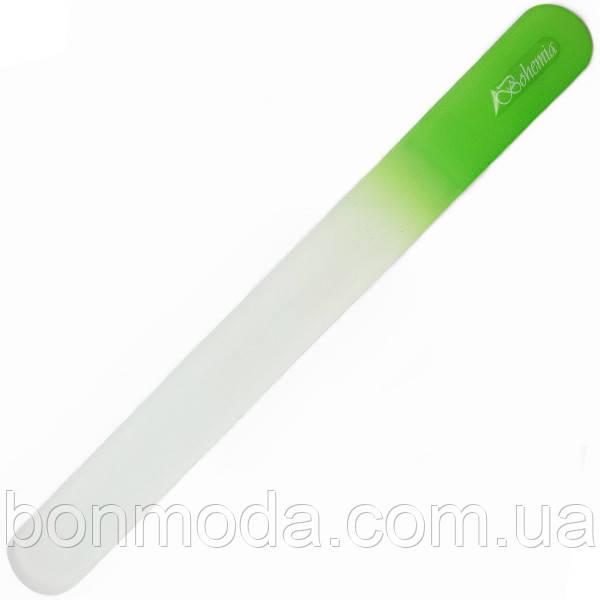 Пилочка для ногтей стеклянная, большая, зеленая Bohemia 19,5 см