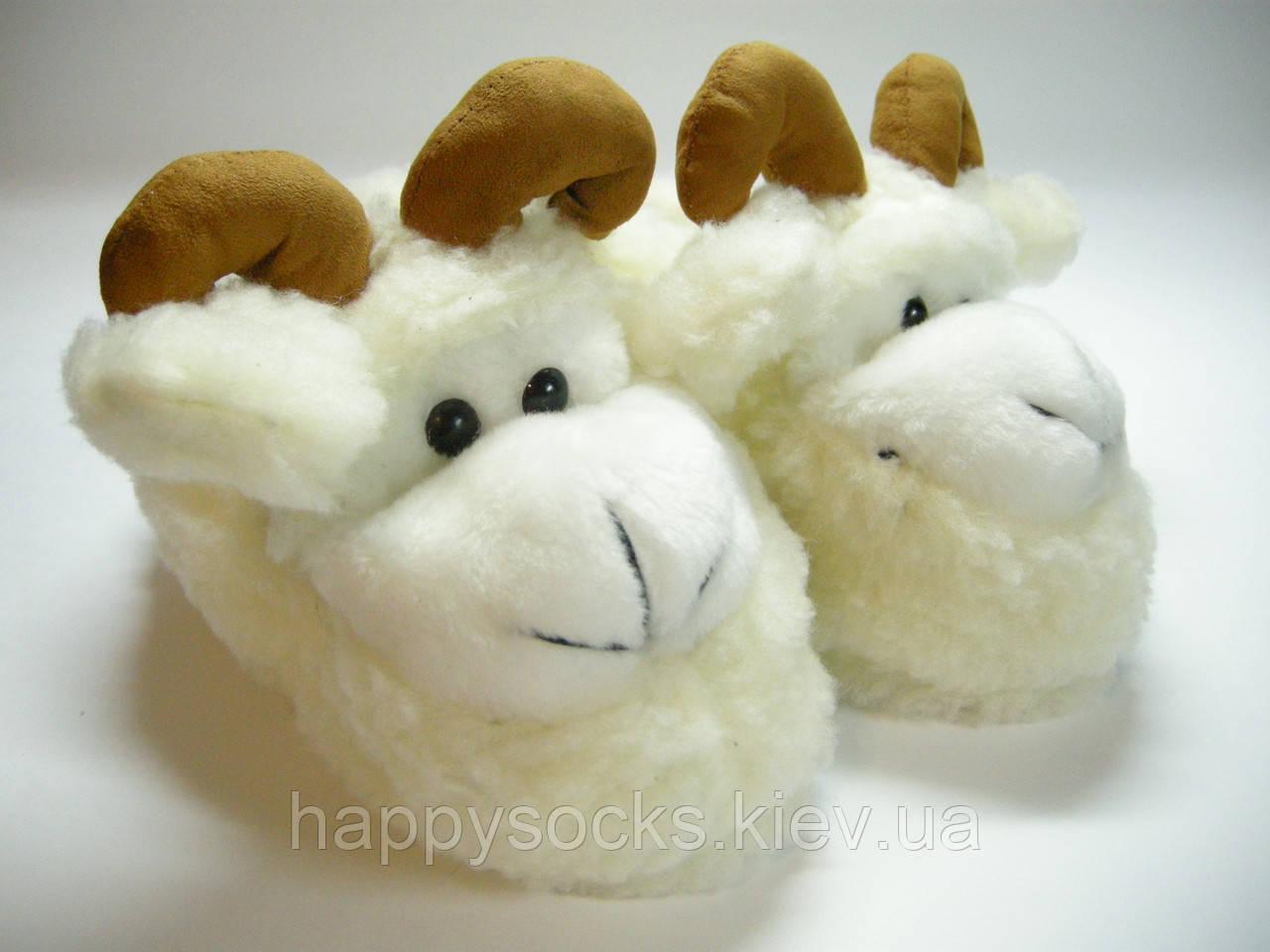 """Теплые тапочки-чуни """" Баранчик"""" из овечьей шерсти"""