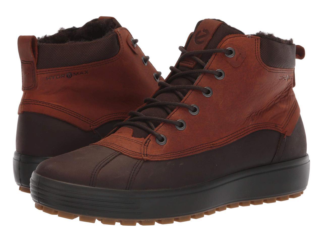 Ботинки Сапоги (Оригинал) ECCO Soft 7 Tred Hydromax High Mocha Cognac 89d86e5160b8e