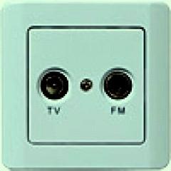 РСТ-2-ГФ Розетка антенная (фисташковый металлик)
