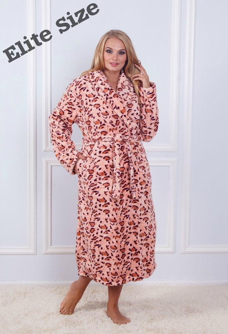 Женский длинный халат из бамбука в больших размерах 6dd24
