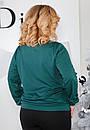 Женский свитшот в больших размерах с вертикальными полосками 61ba405, фото 3
