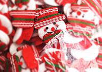 Новогодняя Мягкая Игрушка на Елку в Ассортименте для Атмосферы Нового Года Рождества Упаковка 100 шт