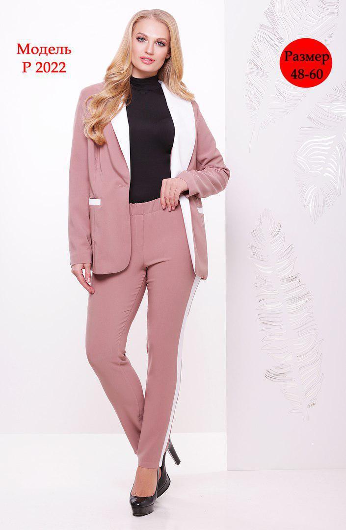 Женский брючный костюм в больших размерах с пиджаком 31ba537