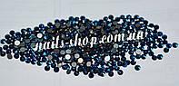 """Стразы стеклянные """"Metallic Blue"""" (аналог swarovski) ss4 (1.5 mm)"""
