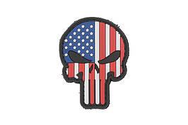 Нашивка 3D - Punisher US Flag [GFC Tactical] (для страйкбола)