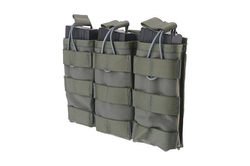 Тройной подсумок Open I для магазинов AK/M4/G36 - ranger green [Primal Gear] (для страйкбола)