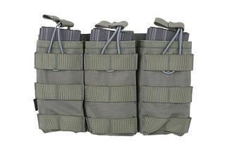 Тройной подсумок Open I для магазинов AK/M4/G36 - ranger green [Primal Gear] (для страйкбола), фото 2