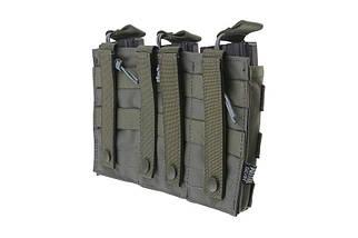 Тройной подсумок Open I для магазинов AK/M4/G36 - ranger green [Primal Gear] (для страйкбола), фото 3