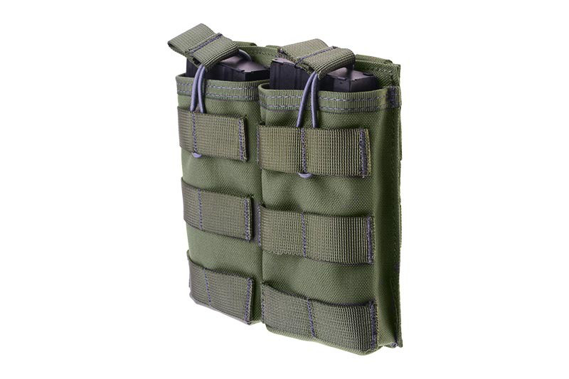 Двойной подсумок Open I для магазинов AK/M4/G36 - ranger green [Primal Gear] (для страйкбола)