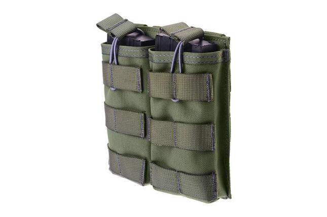 Двойной подсумок Open I для магазинов AK/M4/G36 - ranger green [Primal Gear] (для страйкбола), фото 2