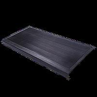 Накладка на ступеньку резиновая противоскользящая 75*33*0,3 см (чёрная)
