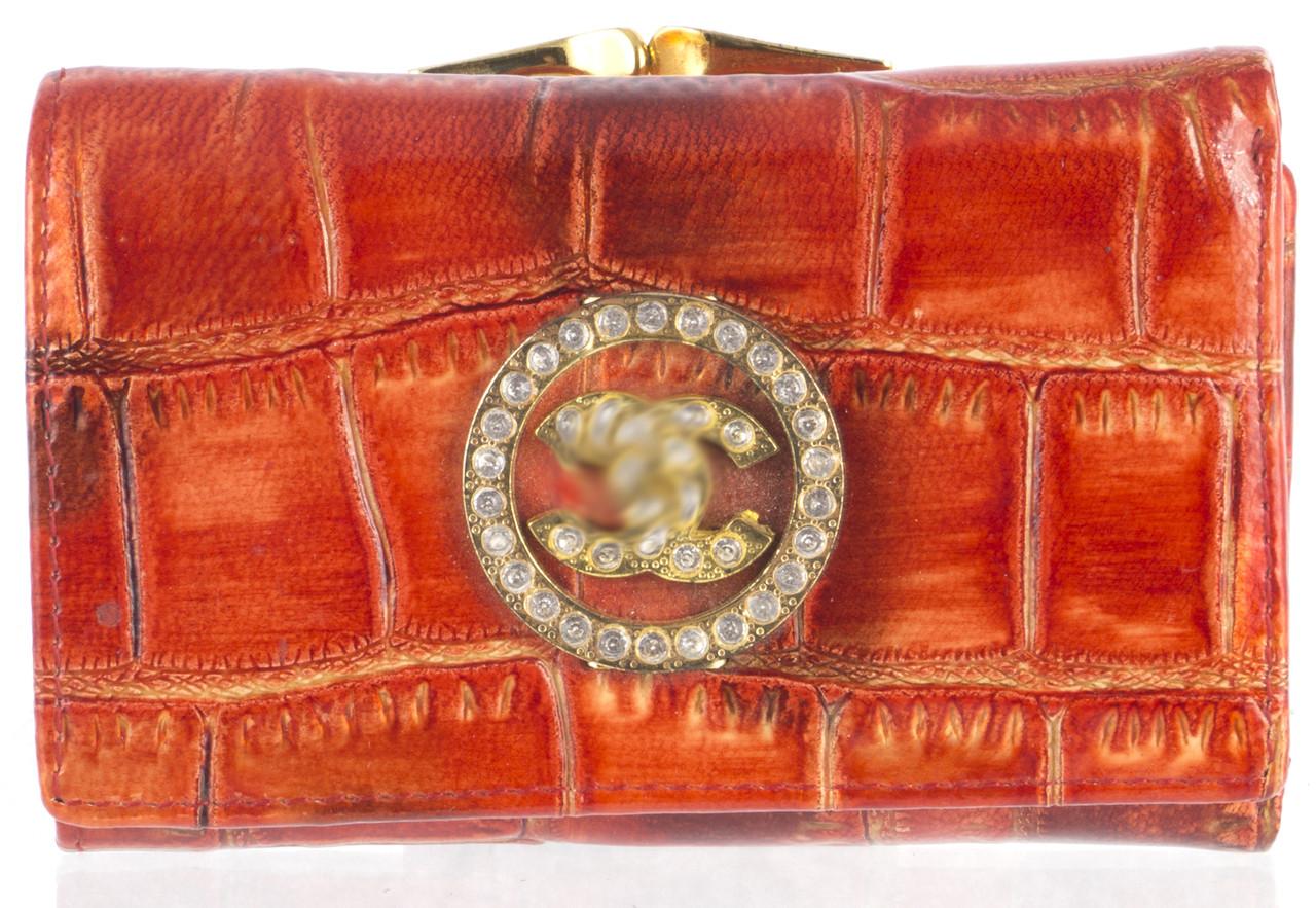 Стильний жіночий шкіряний гаманець високої якості art.987-AC червоний