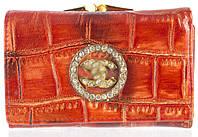 Стильний жіночий шкіряний гаманець високої якості art.987-AC червоний, фото 1
