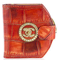 Гламурный женский кожаный кошелек высокого качества art.300-AC красный, фото 1