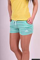 Шорты женские трикотажные (цв.мяты ) Adidas Размеры в наличии : 38,40,42,44,46 арт.023