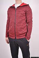 Кофта спортивная мужская (55% polyester, 45% cotton) цв.бордовый EXUMA Размеры в наличии : 48,50 арт.271240
