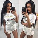 Женские шорты на бретелях из джинса 40ks571, фото 2